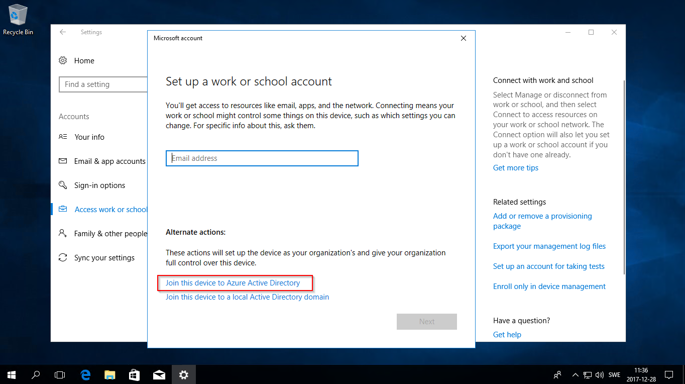 How to join a Windows 10 computer to your Azure Active