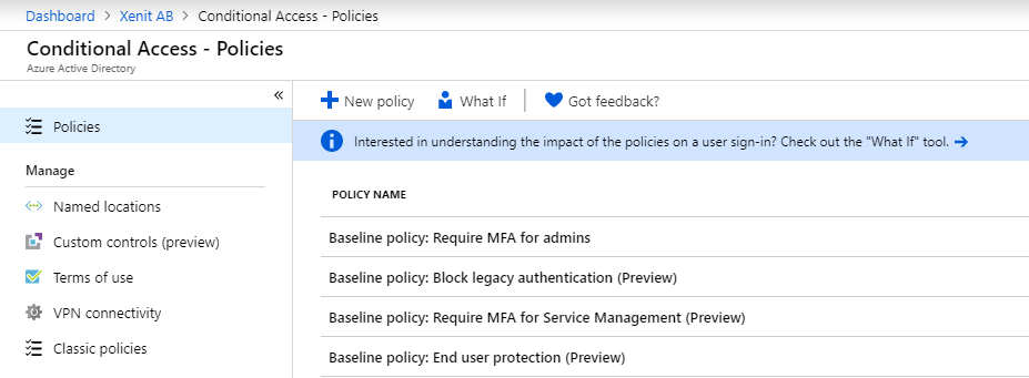 New baseline policies available in Conditional Access – Xenit Technical