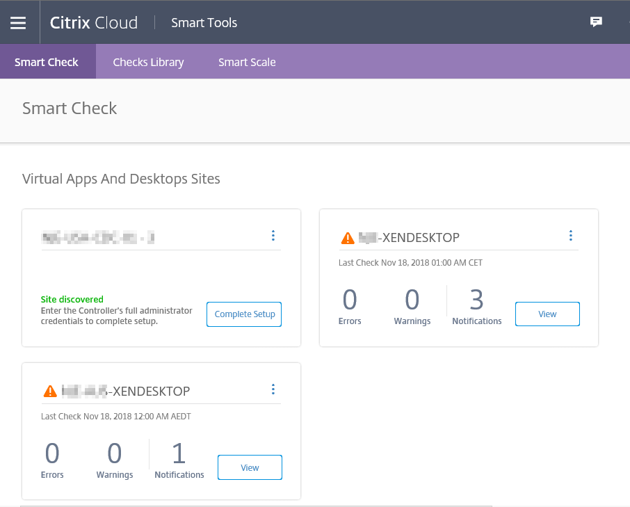 Citrix Cloud Smart Tools