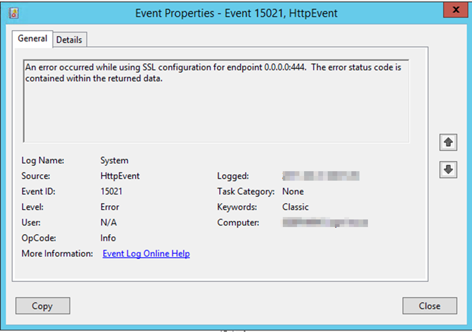 Exchange 2016 – EventID 15021 HttpEvent – Xenit Technical