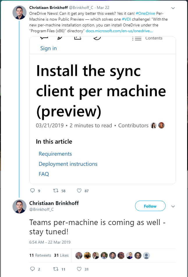 Install OneDrive (and soon Teams) on Local Machine – Xenit