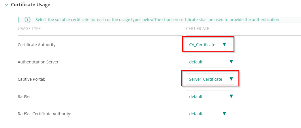 BIND CERTIFICATES TO CAPTIVE PORTAL IN ARUBA CENTRAL – Xenit Technical