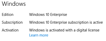 Windows 10 Subscription Activation for Hybrid Azure AD